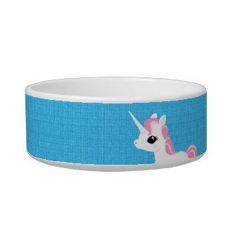 Little Unicorn with Pink mane pet bowl Cat Bowls