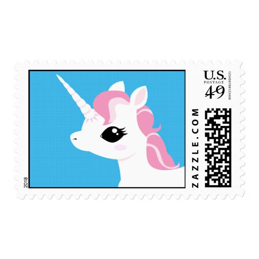 Little Unicorn with Pink Mane Stamp