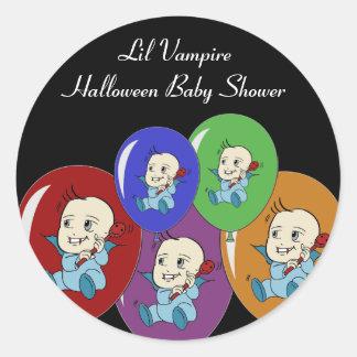 Little Vampire Baby Shower Stickers
