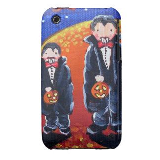 Little Vampire Brothers Folk Art iPhone Case