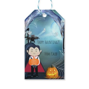 Halloween Themed Little Vampire Dracula Halloween Party Favor Gift Tags