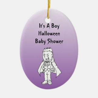 Little Vampire Halloween Baby Shower Ornaments