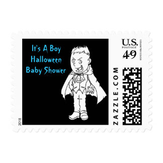 Little Vampire Halloween Baby Shower Postal Stamps