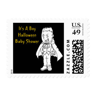 Little Vampire Halloween Baby Shower Postal Stamps