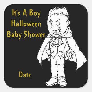 Little Vampire Halloween Baby Shower Stickers
