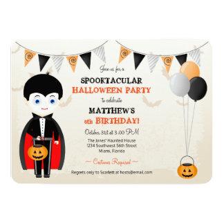 Little Vampire Halloween Party Card