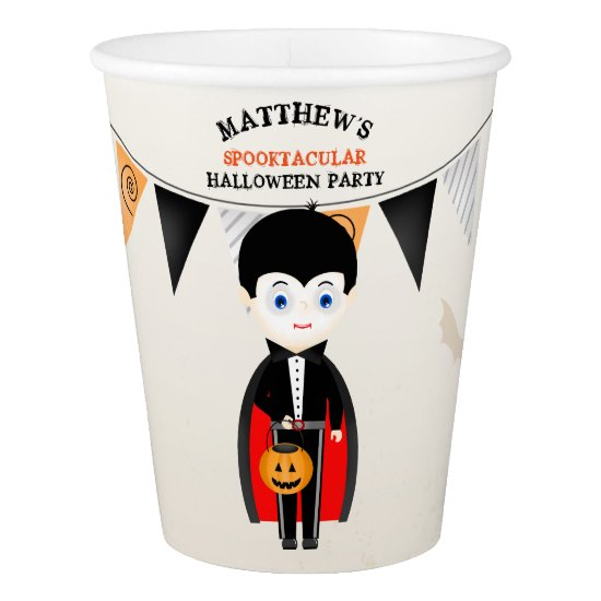 Little Vampire Halloween Party Paper Cup