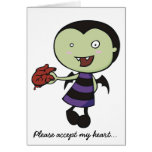 Little Vampire Heart Card