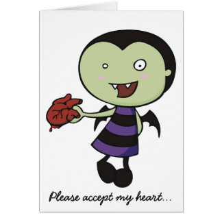Little Vampire Heart Greeting Card