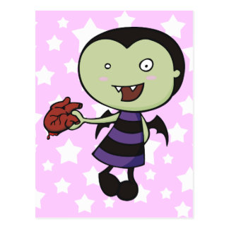 Little Vampire Heart Postcard