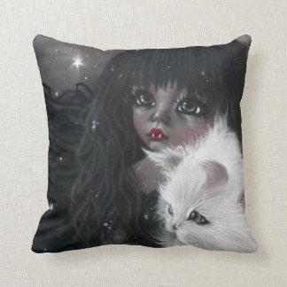 Little Vampiress with Kitty  Magic Pillow