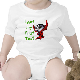 Little Vamp's first toof Rompers