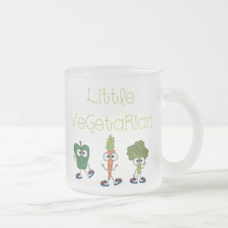 Little Vegetarian Frosted Glass Coffee Mug