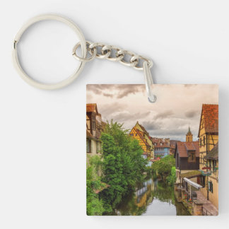 Little Venice, petite Venise, in Colmar, France Keychain