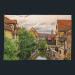 "Little Venice, petite Venise, in Colmar, France Kitchen Towel<br><div class=""desc"">Famous traditional colorful timbered houses in Little Venice,  petite Venise and tower of the church,  Colmar,  Alsace,  France</div>"