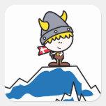 Little Viking Boy Square Sticker