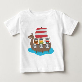 Little Vikings in ship Baby T-Shirt