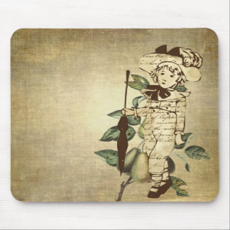 Little Vintage Boy in Vintage Garb with Pears Mouse Pad