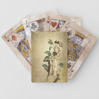 Little Vintage Boy in Vintage Garb with Pears Bicycle Playing Cards