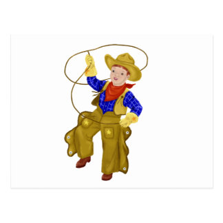 Little Vintage Cowboy Postcard