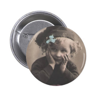 Little Vintage Girl Pin