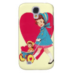 Little Vintage Girl Galaxy S4 Cover
