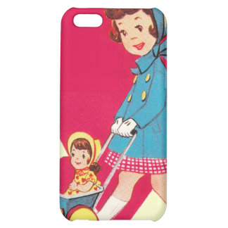 Little Vintage Girl Cover For iPhone 5C