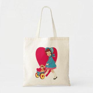 Little Vintage Girl Tote Bag