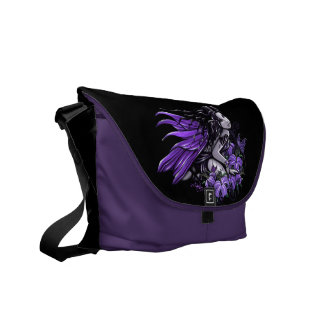 """""""Little Violet Lily"""" Butterfly Fairy Messenger Bag"""