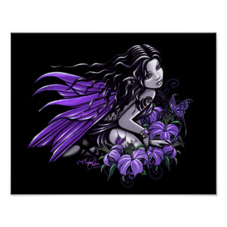 """""""Little Violet Lily"""" Gothic Butterfly Fairy Poster"""
