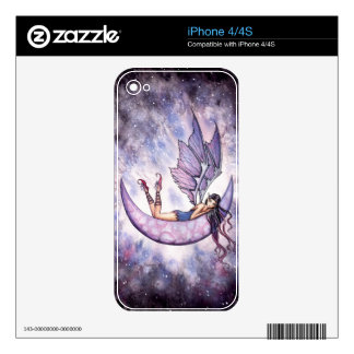 Little Violet Moon Gothic Fairy Art Skins For The iPhone 4S