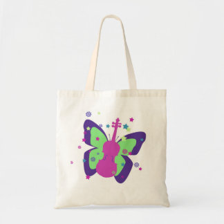 Little Violin Butterfly Tote Bag