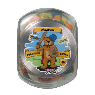 Little Warrior Jelly Belly Candy Jar