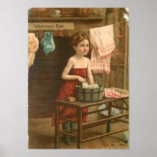 Little Wash Girl Poster