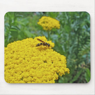 Little Wasp on Yarrow Coordinating Items Mouse Pad