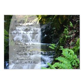 Little Waterfall Wedding Invitation