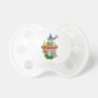 Little waving gnome. pacifier