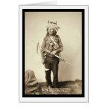 Little, Wearing Horn Headdress SD 1890 Card