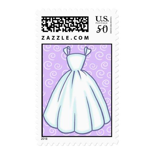 Little Wedding Dress Custom Postage