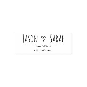 Valentines Themed little wedding heart decor self-inking stamp