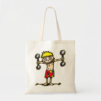 Little Weightlifting Boy Tote Bag