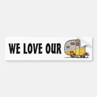 Little Western Camper Trailer Bumper Sticker