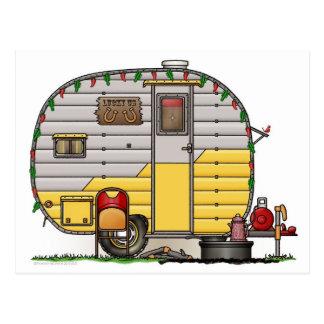 Little Western Camper Trailer Postcard