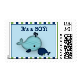 Little Whale Baby and Mommy Kiss Postage
