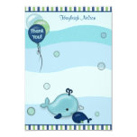 """Little Whale Baby and Mommy Thank You card 3.5""""x5"""