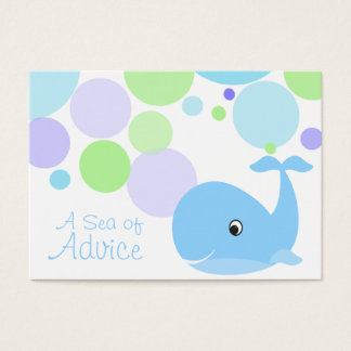 Little Whale Baby Shower Advice Cards