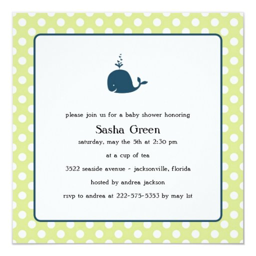 little whale baby shower invitation zazzle
