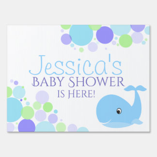 Little Whale Baby Shower Sign