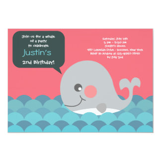 Little Whale Invitation