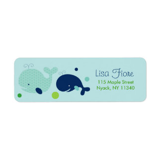 Little Whale Nautical Baby Shower Address Labels